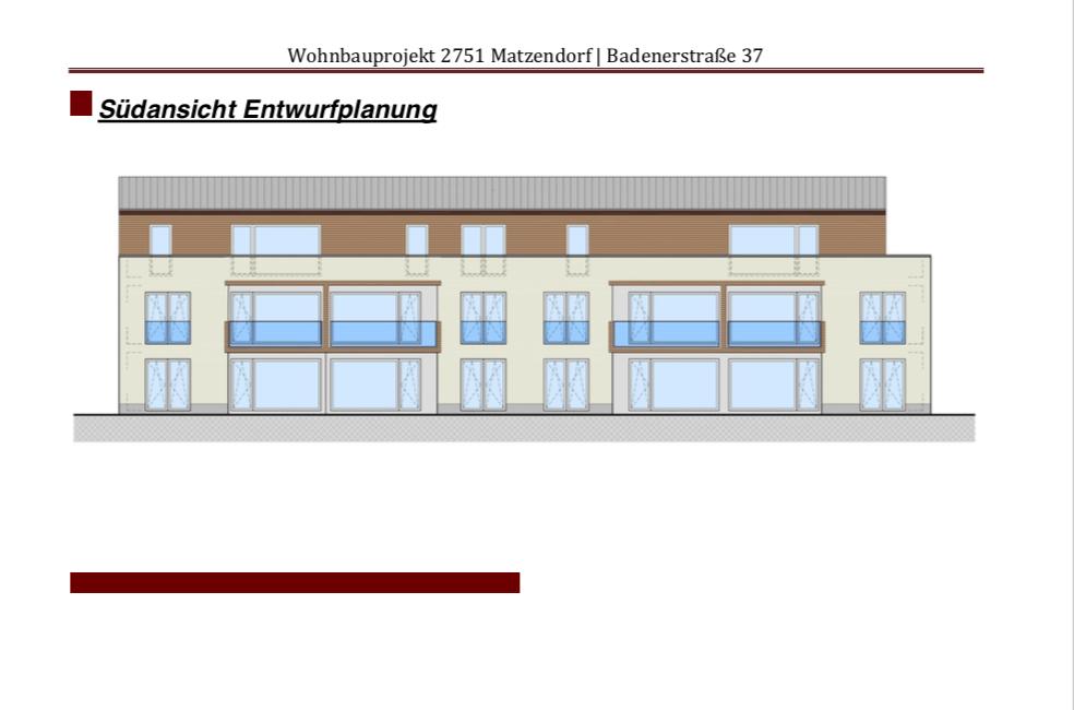 Wohnbauprojekt Matzendorf