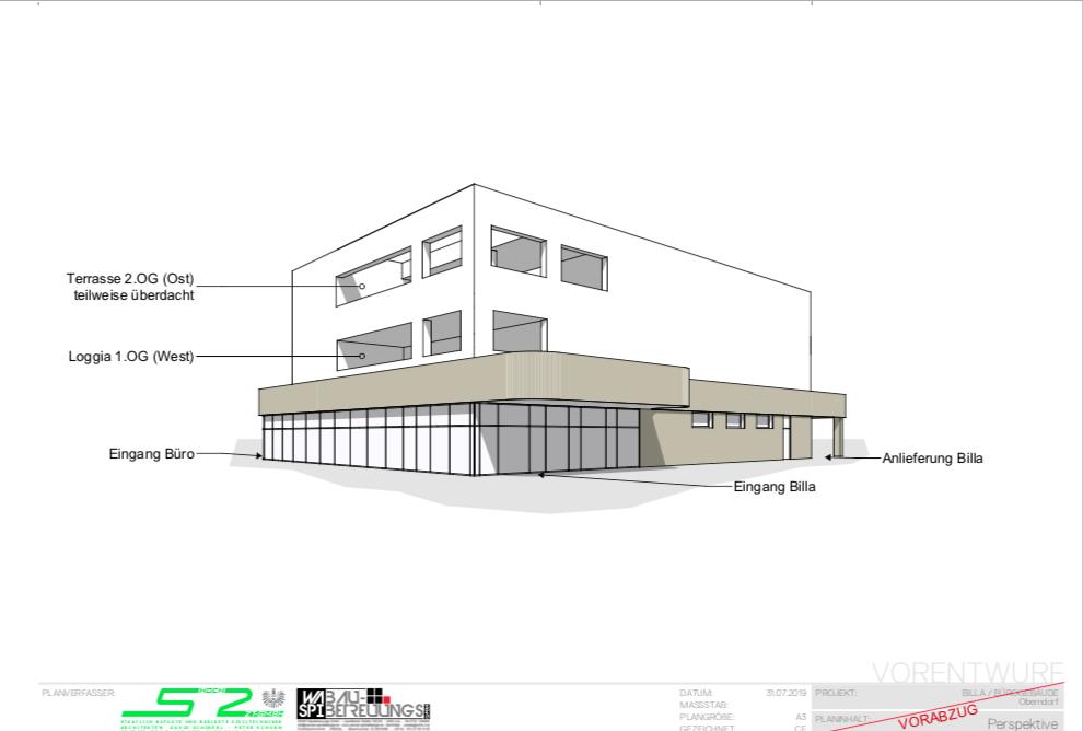 Nahversorger und Bürogebäude Oberndorf